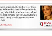 Coaching Testimonial for Jenny Garrett