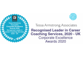 Recognised Leader in Career Coaching Services UK, 2020<br />Corporate Excellence Awards, CV Magazine
