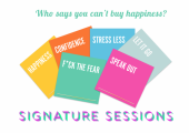 Signature sessions are great as a gift - or to treat yourself to some essential self-care