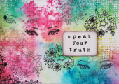 Art Journal page - speak your truth