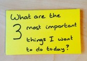 What are the 3 most important things I want to do today?