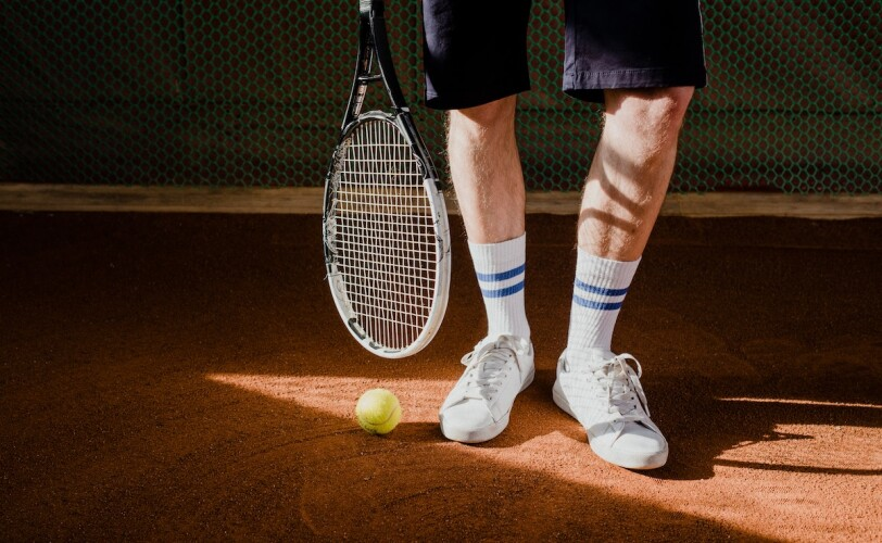 Man in tennis outfit