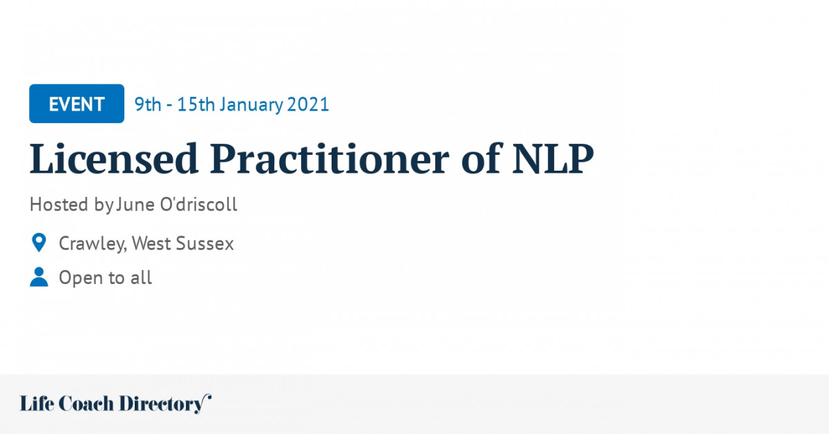 Licensed Practitioner of NLP - Life Coach Directory