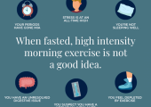 When fasted morning exercise is not a good idea