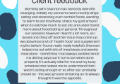 Client feedback (Cate)