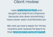 Client review (Olive)
