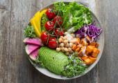 Healthy bowl with avocado