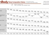 Example of body composition tracking