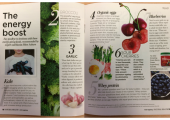 Natural Health - November 2016 issue - An article I wrote for Natural Health magazine, 'Seven energy-giving foods'.