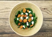 Spinach & butternut squash salad