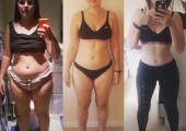 One of my clients weight loss progression