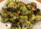 Buckwheat Salad<br />Toasted cauliflower, buckwheat, capers and olives. Great for hormone balancing.