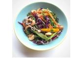 Vegan Rainbow Noodle Salad