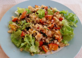 Squash, quinoa and pumpkin seed salad