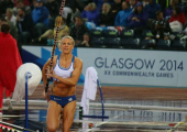 Glasgow Commonwealth Games 2014 - Having a crack in the torrential rain