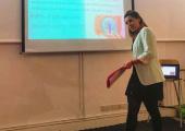 Delivering a workshop on gut health