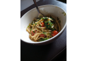 Another popular option for veggies and weight management<br />Spring green and vegetable pasta