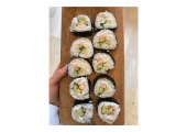 Homemade vegetarian sushi