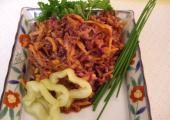 purple coleslaw with healthy oils