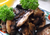 'fried' mushrooms dehydrated in cold-pressed olive oil