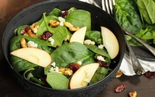 Carrot apple salad with apple cider vinaigrette