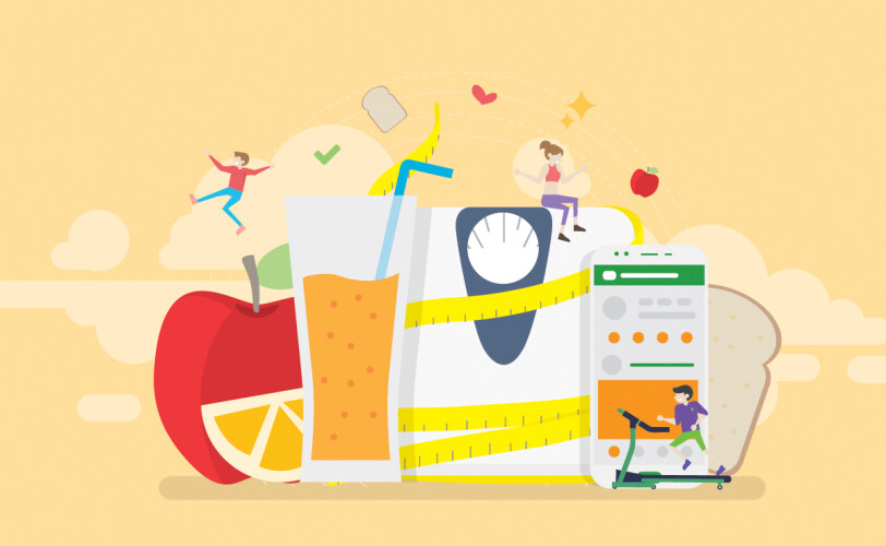Balanced diet and healthy lifestyle