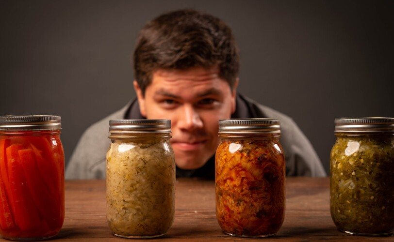 man and fermented food