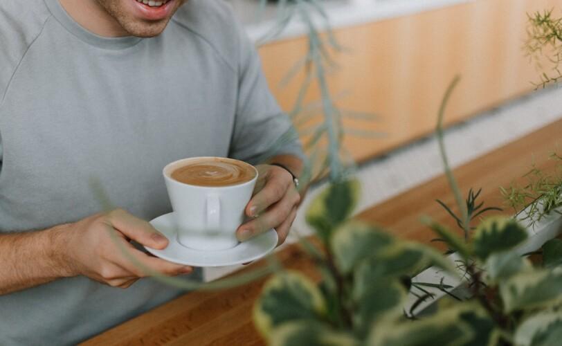 Man enjoying a coffee