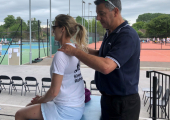 The Royal Marsden Tennis Open<br />Masaging Tennis Players in Exchange for Donations to The Royal Marsden