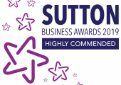 Highly Commended at the 2019 Sutton Business Awards
