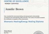 Shamanic Healing Diploma Certificate