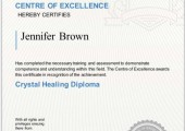 Crystal Healing Diploma Certificate