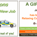 Gift Voucher New Job