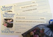 Gift vouchers for a specific treatment or any value