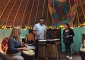 A wonderful group of people gathering for an evening of African Drumming