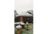 The Meditation area by the large yurt