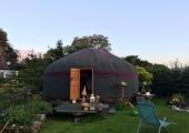 The door to the yurt is always open
