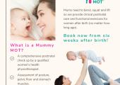 Mummy MOT Postnatal Assessments by trained Physiotherapists