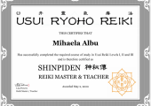 My Reiki Certification