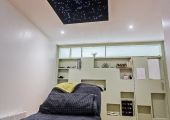 Our beautiful treatment room with starlit ceiling
