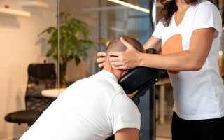 Corporate massage for staff well-being
